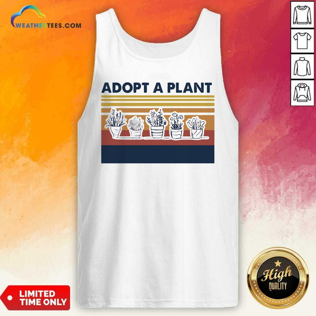 Adopt A Plant Vintage Retro Tank Top - Design By Weathertees.com