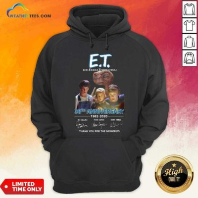 E.T. The Extra Terrestrial 38th Anniversary 1982 2020 Thank You For The Memories Signatures Hoodie - Design By Weathertees.com