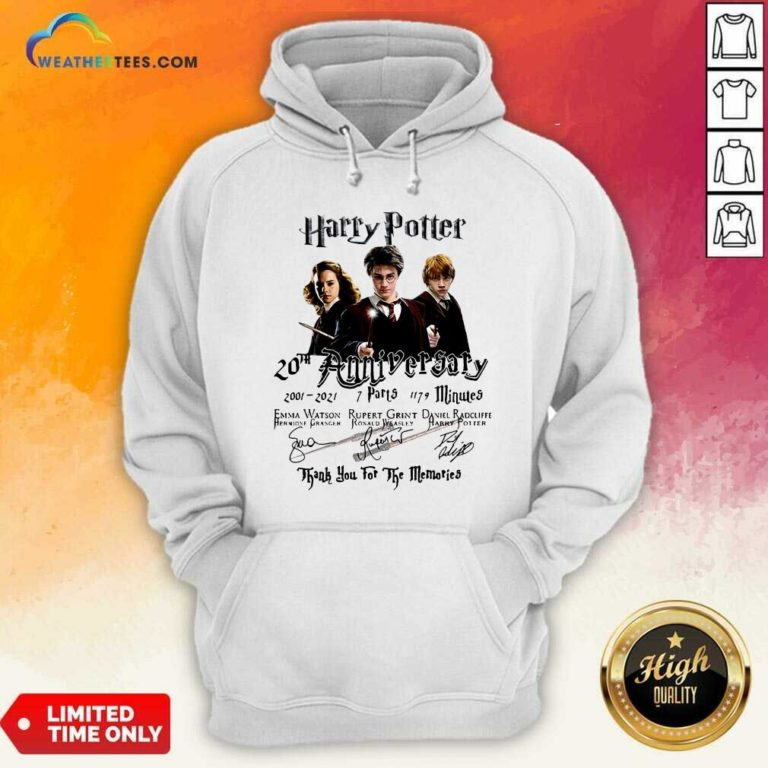 Harry Potter 20th Anniversary 2001 2021 7 Parts 1179 Minutes Signatures Hoodie - Design By Weathertees.com