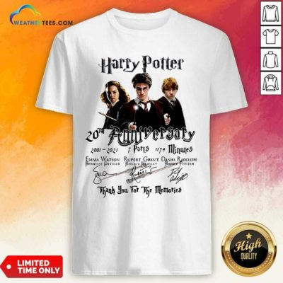 Harry Potter 20th Anniversary 2001 2021 7 Parts 1179 Minutes Signatures Shirt - Design By Weathertees.com