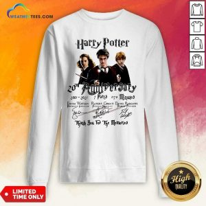 Harry Potter 20th Anniversary 2001 2021 7 Parts 1179 Minutes Signatures Sweatshirt - Design By Weathertees.com