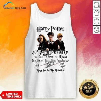 Harry Potter 20th Anniversary 2001 2021 7 Parts 1179 Minutes Signatures Tank Top - Design By Weathertees.com