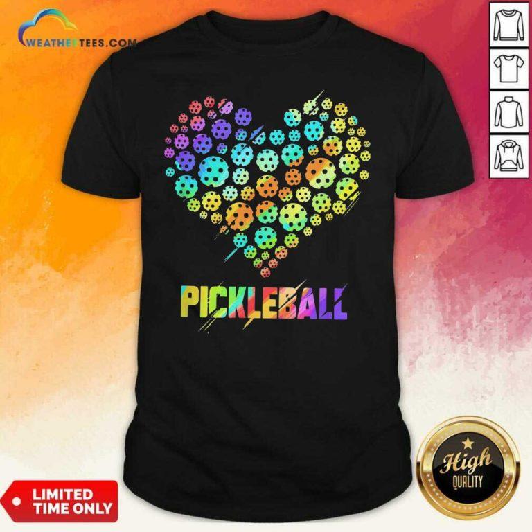 Heart Pickleball Shirt - Design By Weathertees.com
