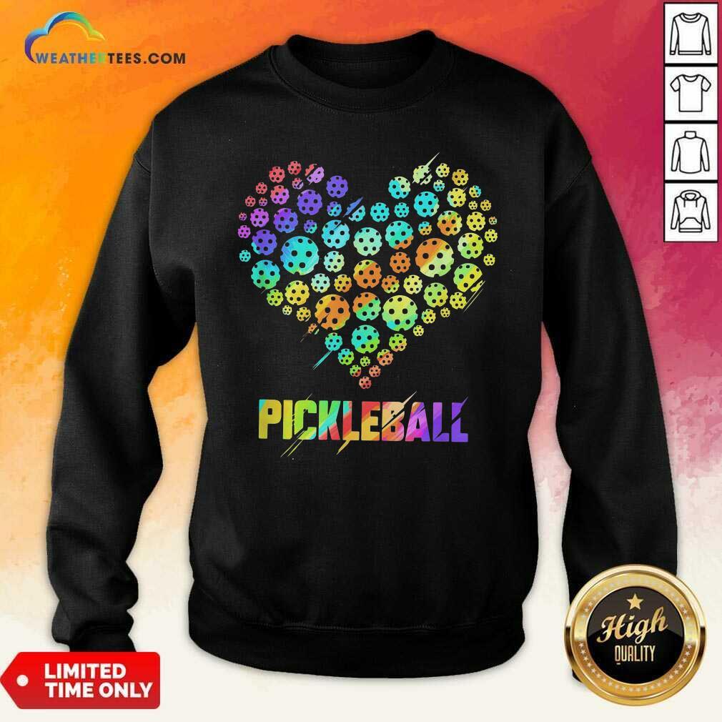 Heart Pickleball Sweatshirt - Design By Weathertees.com