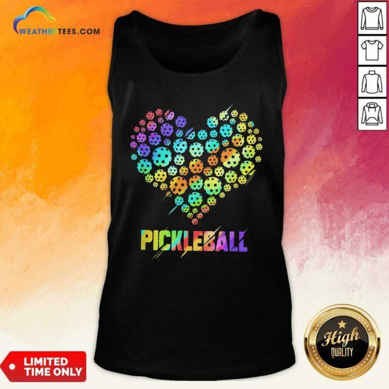 Heart Pickleball Tank Top - Design By Weathertees.com