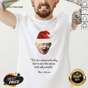 It's The Season To Be Jolly Boris Jumper Boris Johnson Christmas V-neck - Design By Weathertees.com