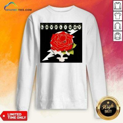 Lovelight Rose Sweatshirt - Design By Weathertees.com