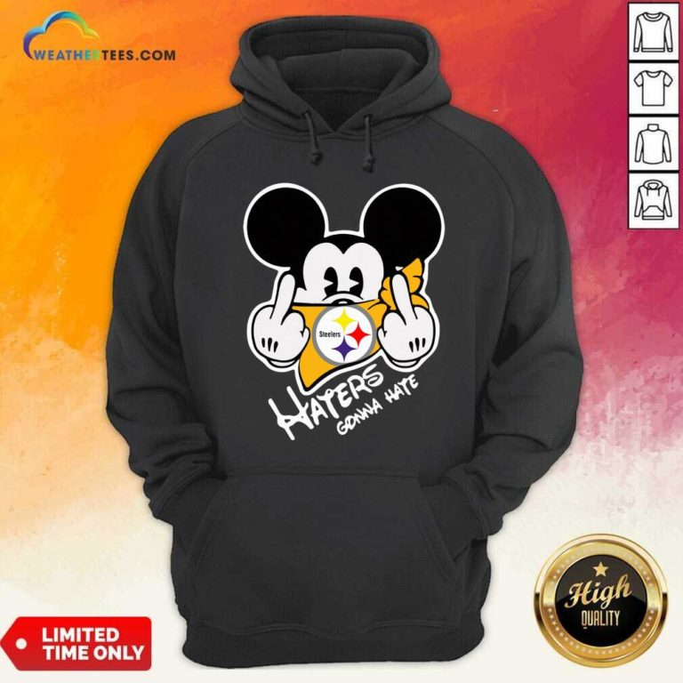 Mickey Mouse Face Mask Pittsburgh Steelers Fuck Haters Gonna Hate Hoodie - Design By Weathertees.com