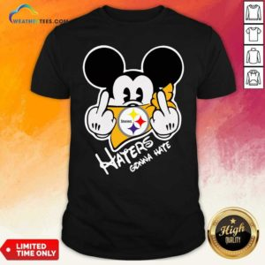 Mickey Mouse Face Mask Pittsburgh Steelers Fuck Haters Gonna Hate Shirt - Design By Weathertees.com