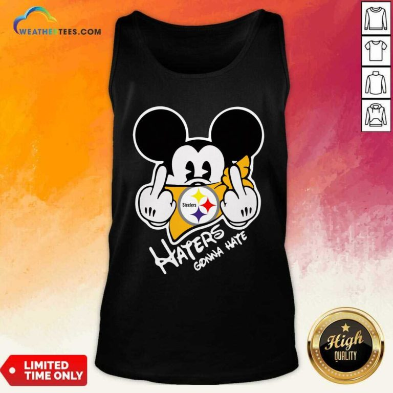 Mickey Mouse Face Mask Pittsburgh Steelers Fuck Haters Gonna Hate Tank Top - Design By Weathertees.com