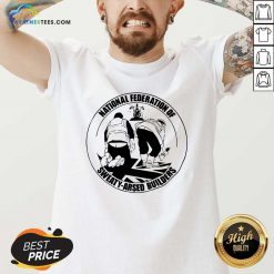 National Federation Of Sweaty Arsed Builders V-neck - Design By Weathertees.com
