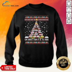 Oh What Fun It Is To Ride Tree Christmas Sweatshirt - Design By Weathertees.com