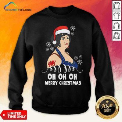Santa Nessa Jenkins Oh Oh Oh Merry Christmas Sweatshirt - Design By Weathertees.com