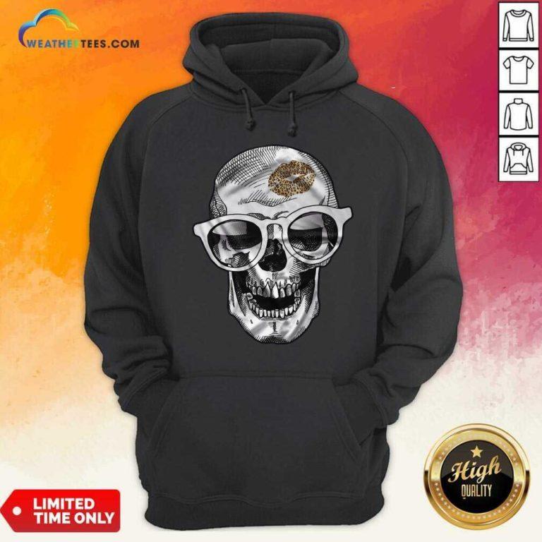 Skull Leopard Lip Hoodie - Design By Weathertees.com