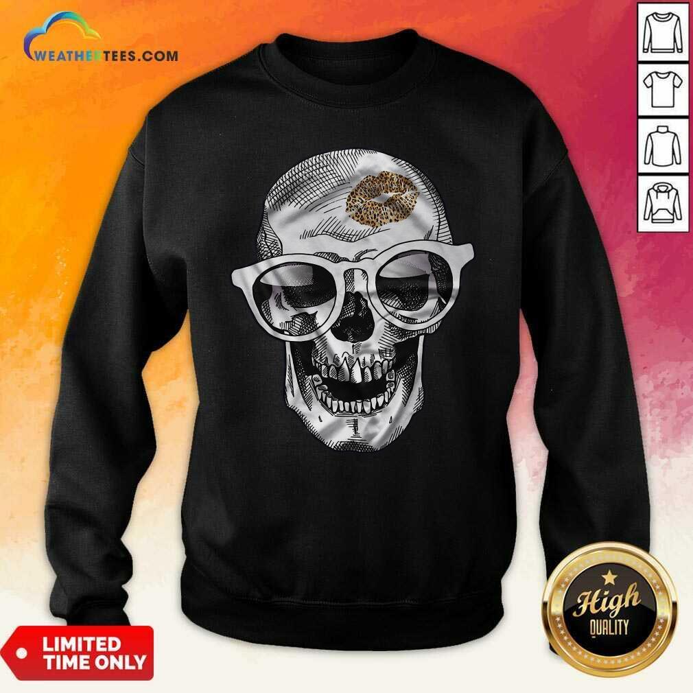 Skull Leopard Lip Sweatshirt - Design By Weathertees.com