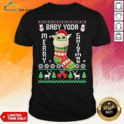 Baby Yoda Hat Santa Ugly Merry Christmas 2020 Shirt - Design By Weathertees.com