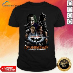 The Dark Knight 12th Anniversary 2008 2020 Signatures Shirt - Design By Weathertees.com