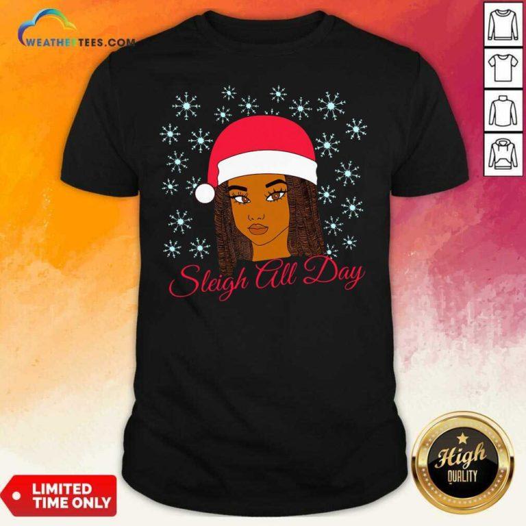 Christmas Melanin Sleigh All Day Shirt - Design By Weathertees.com