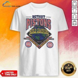 Detroit Pistons World Champions Shirt - Design By Weathertees.com