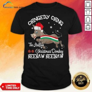 Chingedy Ching Dominick The Christmas Donkey Hee Haw Hee Haw Shirt - Design By Weathertees.com