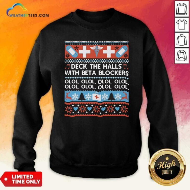 Deck The Halls With Bet A Blockers Sweatshirt - Design By Weathertees.com