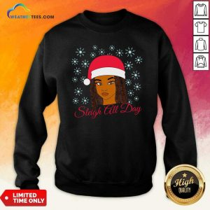 Christmas Melanin Sleigh All Day Sweatshirt - Design By Weathertees.com