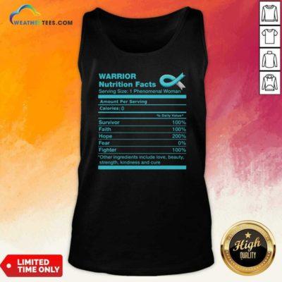 Warrior Cervical Cancer Nutrition Facts Cervical Cancer Awareness Tank Top - Design By Weathertees.com