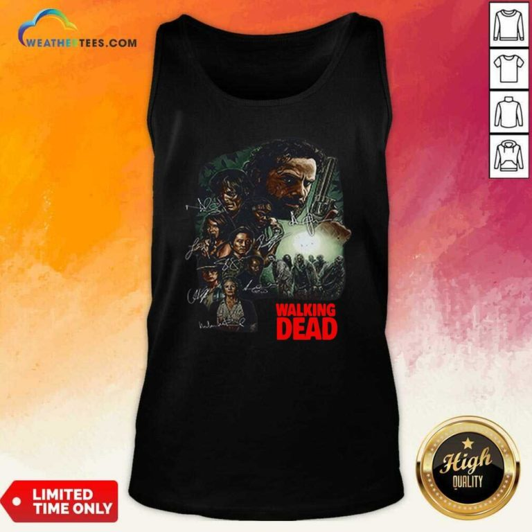 Waking The Dead Signatures Tank Top - Design By Weathertees.com