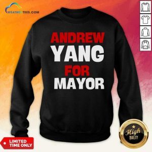Andrew Yang For Mayor Essential Sweatshirt - Design By Weathertees.com