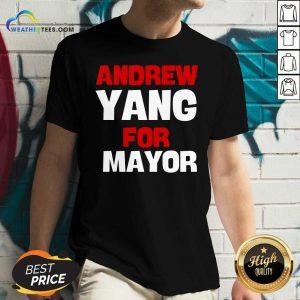 Andrew Yang For Mayor Essential V-neck - Design By Weathertees.com