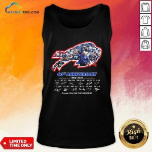 Buffalo Bills 60th Anniversary 1960 2020 Thank You For The Memories Signatures Tank Top - Design By Weathertees.com