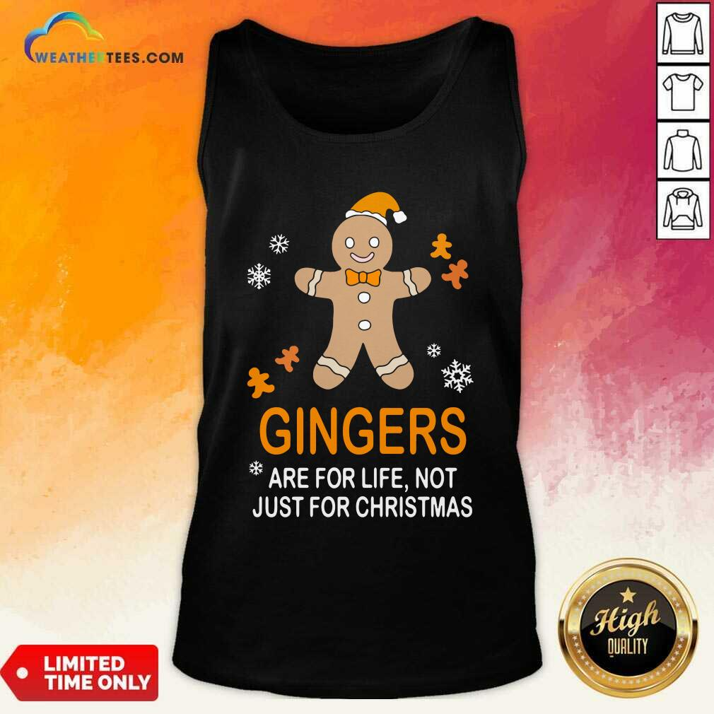 Snowman Gingers Are For Life Not Just For Christmas Tank Top - Design By Weathertees.com