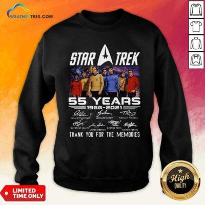 Star Trek 55 Years 1966 2021 Thank You For The Memories Signatures Sweatshirt - Design By Weathertees.com