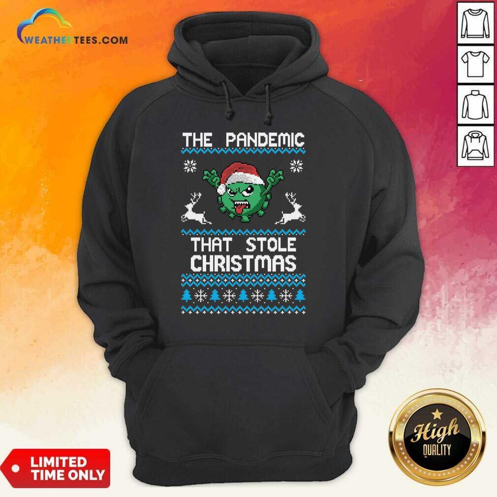 The Pandemic That Stole Christmas Corona Virus Wear Santa Hat Hoodie - Design By Weathertees.com