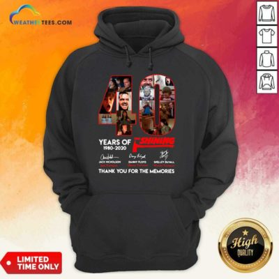 The Shining 40 Years Thank You For The Memories Signatures Hoodie - Design By Weathertees.com