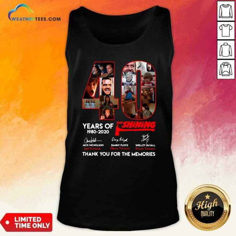 The Shining 40 Years Thank You For The Memories Signatures Tank Top - Design By Weathertees.com