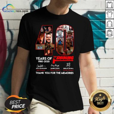 The Shining 40 Years Thank You For The Memories Signatures V-neck - Design By Weathertees.com
