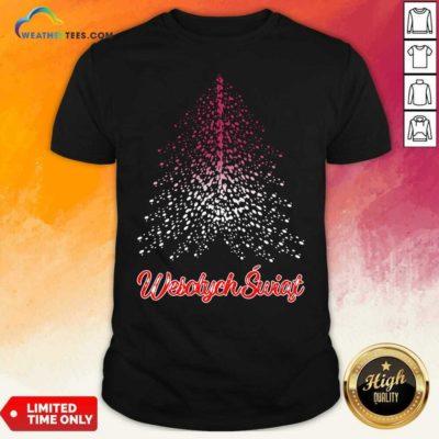 Wesolych Swiat Polish Flag Christmas Tree Shirt - Design By Weathertees.com