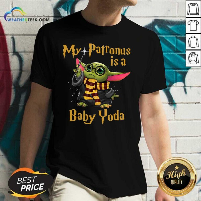Baby Yoda My Patronus Is A V-neck - Design By Weathertees.com