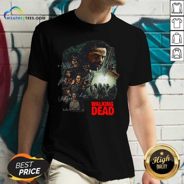 Waking The Dead Signatures V-neck - Design By Weathertees.com