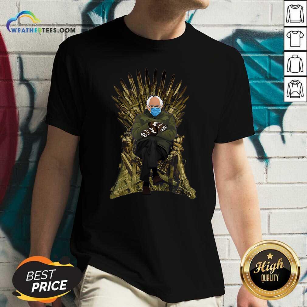 Bernie Sanders Game Of Throne V-neck - Design By Weathertees.com