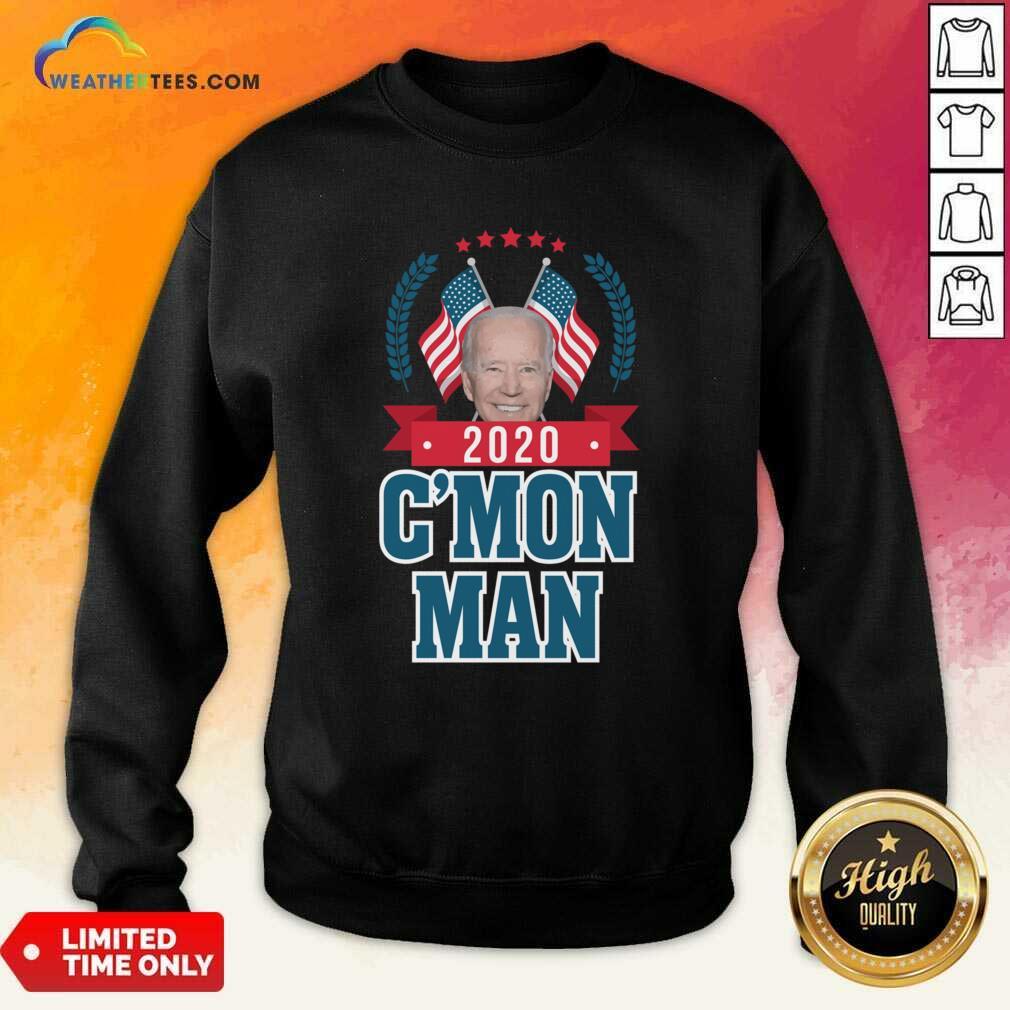 Cmon Man Come On Joe Biden American Flag Sweatshirt - Design By Weathertees.com