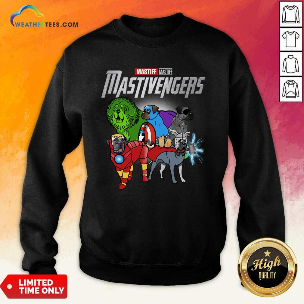 Mastiff Marvel Avengers Mastivengers Sweatshirt - Design By Weathertees.com