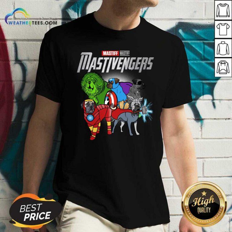 Mastiff Marvel Avengers Mastivengers V-neck - Design By Weathertees.com