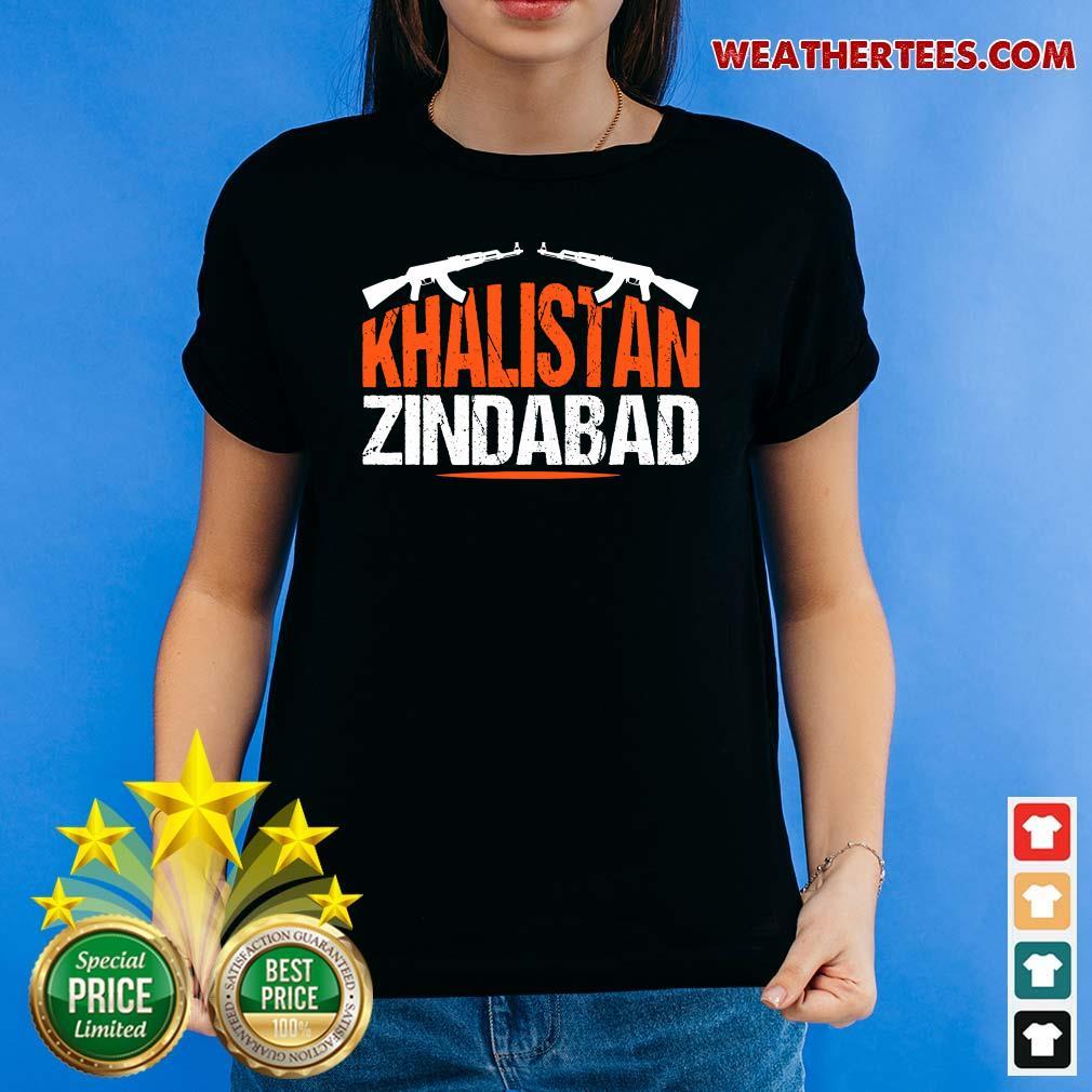 Sikh Khalistan Zindabad Singh Punjabi Ladies-tee - Design By Weathertees.com