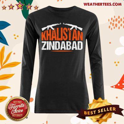 Sikh Khalistan Zindabad Singh Punjabi Long-sleeved - Design By Weathertees.com