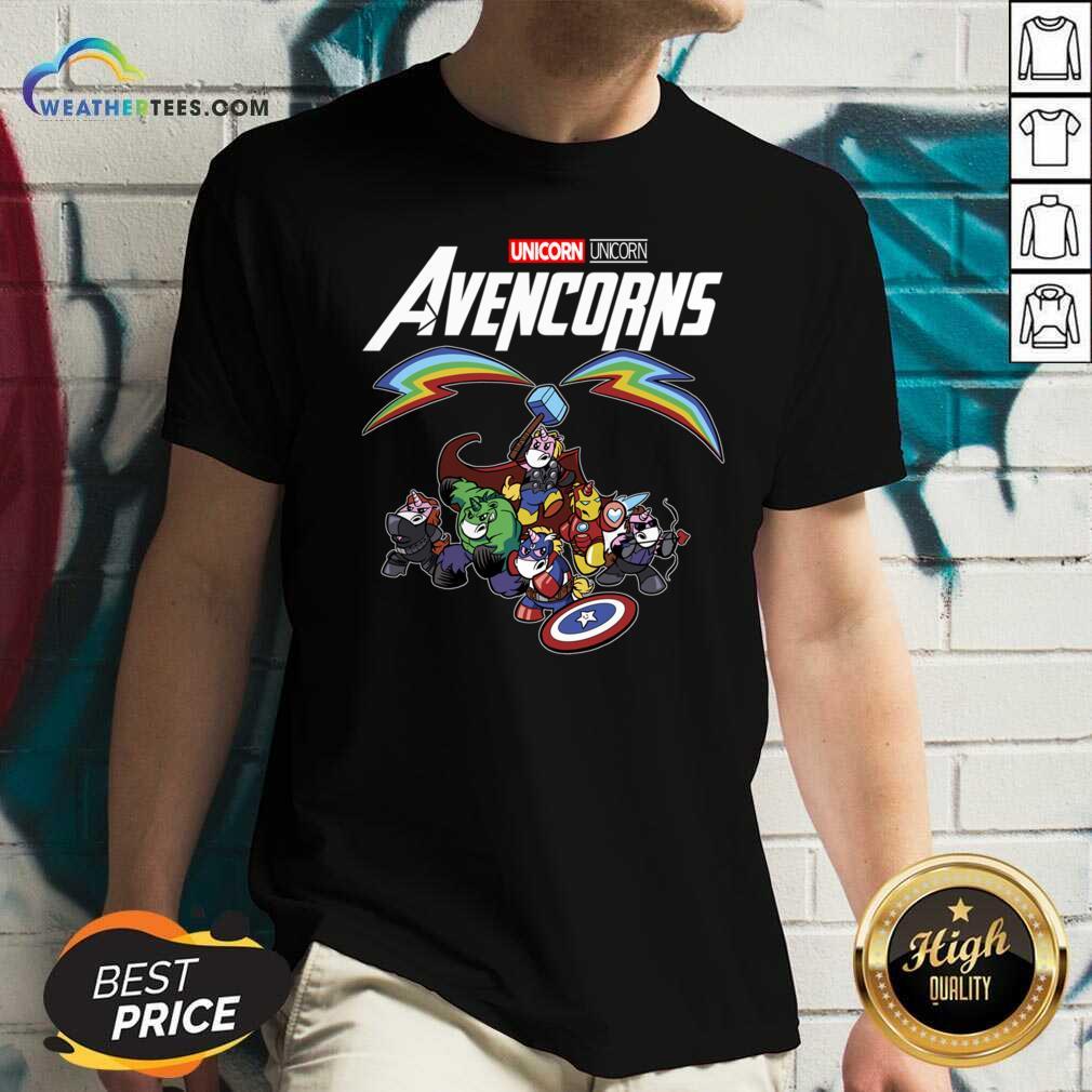 Unicorn Marvel Avengers Avencorns V-neck - Design By Weathertees.com