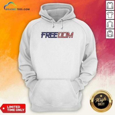 American Flag Patriotic Freedom Hoodie - Design By Weathertees.com