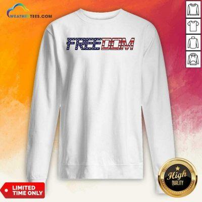 American Flag Patriotic Freedom Sweatshirt - Design By Weathertees.com