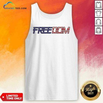 American Flag Patriotic Freedom Tank Top - Design By Weathertees.com